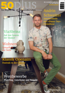 Titel August / September 50plus Magazin
