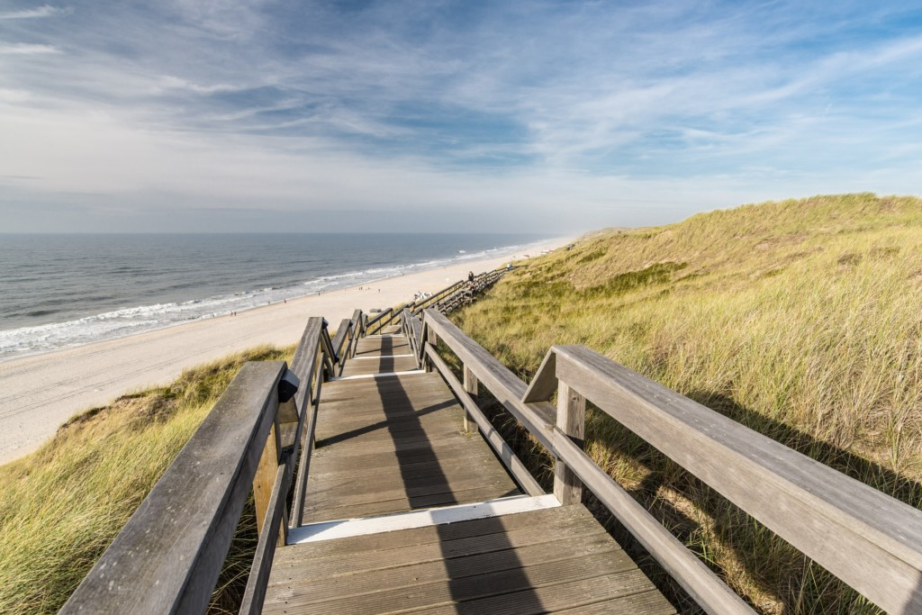 Die Strandtreppe bei Wenningstedt - Foto Dominik-Täuber-Sylt Marketing